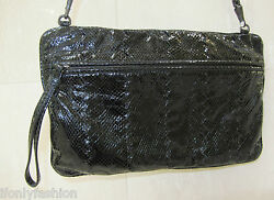 NWT BOTTEGA VENETA Snakeskin CROSS BODY WRISTLET CLUTCH PURSE BAG