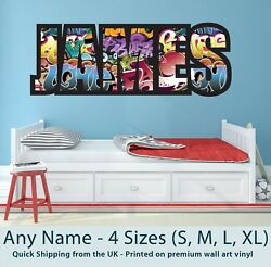 Childrens Name Wall Stickers Art Personalised Graffiti For Boys / Girls Bedroom