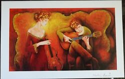 2005 Guitar Serenade Charles Lee Seriolithograph Signed In The Plate