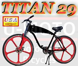Complete 29 Gas Tank Bike For 2-stroke 66cc/80cc Motorized Bicycle Kit