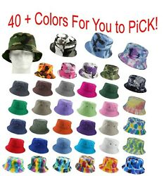 Bucket Hat Cap Cotton Military Fishing Camping Hunting Travel  Sun Safari Summer $8.95