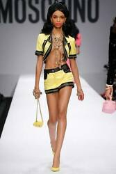 Outfit Bundle Moschino Couture Jeremy Scott Barbie Yellow Quilted Jacketand Shorts