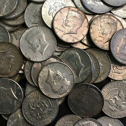 10 Face Value 1964 Kennedy Half Dollars 90 Silver 20 Coins Circulated