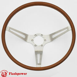 Flashpower Gm Classic Wood Steering Wheel Original Restoration Muscle Car 15and039and039