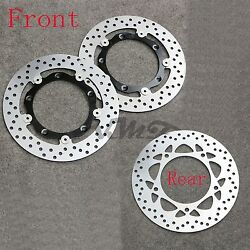 One Set Brake Disc Rotors For Yamaha Tmax500 08-12 09 Tmax530 13-16 Front+Rear