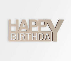 Wooden Sign Happy Birthday- Cut Out Wall Art Home Decor Wall Hanging