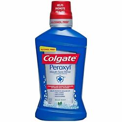 NEW Colgate Peroxyl Mouth Sore Rinse, Mild Mint - 16.9 Fluid Ounce (Pack of 6)
