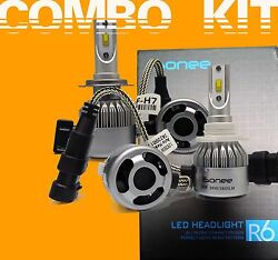 TS R6 F - Series 3800 Lms 36W Xenon Bright White LED Kit H7 and 9005 Bulbs