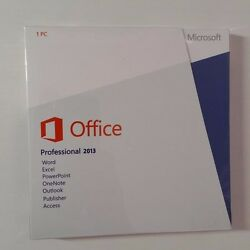 Microsoft 2013 Product Key Card Retail 1 User/s - Full Version For...