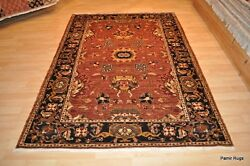 5and039x 7and039 Great Quality Vegetable Dye Natural Dye Wool Handmade Rust Blue Navy Rug