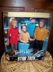 Barbie And Ken Doll Star Trek 30th Anniversary 1996 Nos New Collector Edition