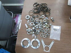 Vintage Yamaha Motorcycle Off Road Dirt Bike Clamps And Hardware Parts Lot