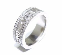 14k White Gold 2.20ct White Diamond Eternity Band Customize Letters And Numbers