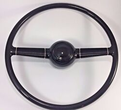 1940 40 Ford Deluxe 15'' Steering Wheel Gm Steering Column W/ Smooth Horn Button