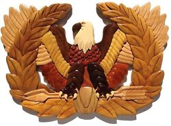 Army Chief Warrant Officer Rising Eagle Plaque - Handcrafted Wood Art Plaque