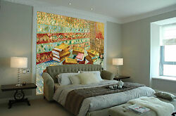 3d Painted Color Books Wall Paper Wall Print Decal Wall Aj Wallpaper Ca