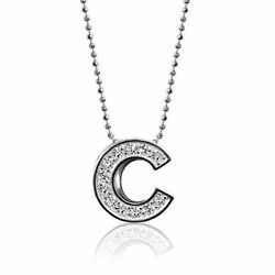Alex Woo Little Mlb Chicago Cubs 14kt White Gold Diamond Necklace