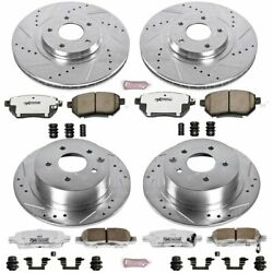 Powerstop 4-Wheel Set Brake Disc and Pad Kits Front & Rear New for K092-26