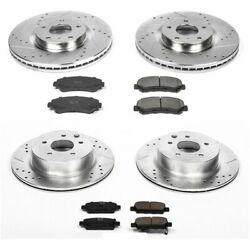 Powerstop Brake Disc and Pad Kits 4-Wheel Set Front & Rear New for K6075
