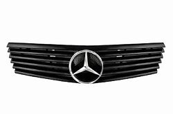 DHL - New for Mercedes R129 SL Class 1990-2002 Sport Grille With Benz Logo-Black