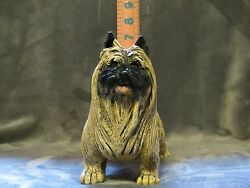 CAIRN TERRIER PLASTER DOG STATUE HAND CAST AND PAINTED BY T.C. SCHOCH