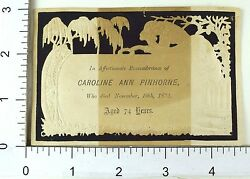 Die Cut Filigree Victorian Mourning Death Remembrance 1874 Stunning Image F67