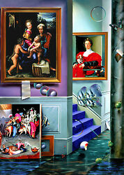 Ferjo Giclee On Canvas Triptych  The Beginning  Left Panel  38 X 27