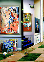 Ferjo Giclee On Canvas Triptych  The New Generation Left Panel 38 X 27