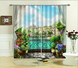 3d City River 3 Blockout Photo Curtain Printing Curtains Drapes Fabric Window Us