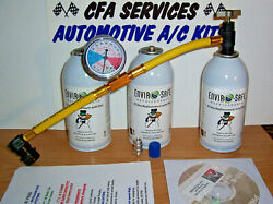 R12 Compatible A/c Refrigerant /1994 And Older 3 Can Recharge Refill Kit + Dvd