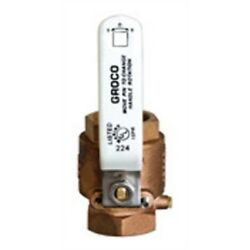 Groco 3/4bronze Full Flow Ball Valve Stainless Steel Handle And Stem Ibv-750 Md