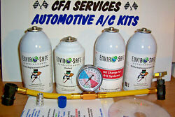 R12 COMPATIBLE REFRIGERANT 12a OIL+STOPLEAK  1994-OLDER CARS RECHARGE AC KIT