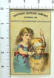 1870and039s Rochester Beer Southern Bottling Co Bartholomay Brewing Trade Card 1 F69