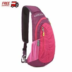 Red Unisex Sling Bag Shoulder Backpack Mini Chest Kids Small Cross Body Daypack