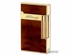 S.t. Dupont Ligne 2 Atelier Lighter - Dark Brown Chinese Lacquer And Gold 016126