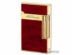 S.t. Dupont Ligne 2 Atelier Lighter - Cherry Red Chinese Lacquer And Gold 016133