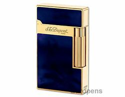 S.t. Dupont Ligne 2 Atelier Lighter - Dark Blue Chinese Lacquer And Gold 016134
