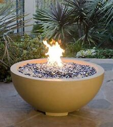 32 Fire Bowl In Black Lave Finish With Aweis System - Natural Gas