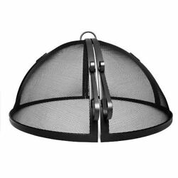 Masterflame 58 304 Stainless Steel Hinged Round Fire Pit Safety Screen