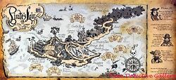 Pirates Lair Map At Tom Sawyer Island - Disneyland Poster - Available In 5 Sizes
