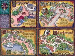 Map Of The Magic Kindoms - Disneyland Poster - Available In 5 Sizes
