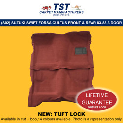 Moulded Car Carpets S02 Suzuki Swift Forsa Cultus Front And Rear 83-88 3 Door