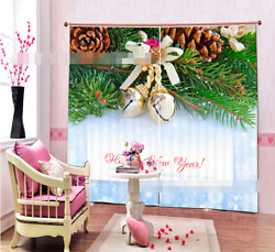 3d Bell Gold Blockout Photo Curtain Printing Curtains Drapes Fabric Window Ca