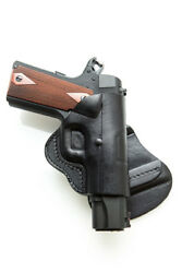 PADDLE OWB LEATHER HOLSTER FITS KELTEC 380 & P3AT - BLACKBROWN - RIGHTLEFT
