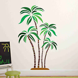 Green and Brown Palm Wall Decal Wall Sticker Home Decor Wall Mural