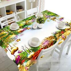 3d Gold Bell 9 Tablecloth Table Cover Cloth Birthday Party Event Aj Wallpaper Au
