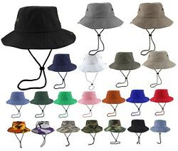 Gelante Unisex 100% Cotton Bucket Hat Fish man Camping Safari Boonie Sun Summer $9.80