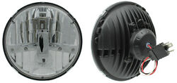 New Two Rostra 7 Round Led Headlamps Headlights H6024 Dot For Hummer H1 H2