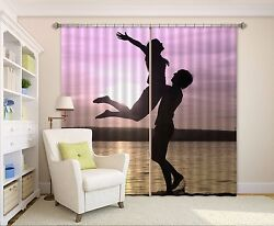 3d Shadow 7 Blockout Photo Curtain Printing Curtains Drapes Fabric Window Us