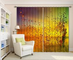 3d Girl Paint72 Blockout Photo Curtain Printing Curtains Drapes Fabric Window Us
